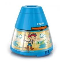 Philips 71769/05/16 - Kinder Tischlampe und Projektor DISNEY JAKE PIRATE