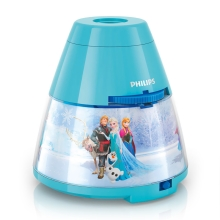 Philips 71769/08/16 - LED Kinderprojektor DISNEY FROZEN 1xLED/0,1W + 3xLED/0,3W/3xAA