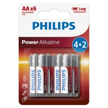 Philips LR6P6BP/10 - 6 Stk. alkalische Batterie AA POWER ALKALINE 1,5V