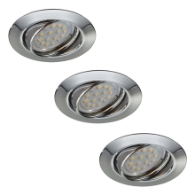 Philips Massive 59333/11/10 - SET 3x LED Bad-Unterbauleuchte OPAL 3xGU10/50W + 3xLED/4W