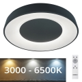 Rabalux - LED Dimmbare Deckenleuchte LED/38W/230V schwarz + RC 3000-6500K
