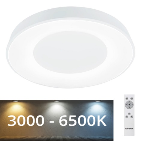 Rabalux - LED Dimmbare Deckenleuchte LED/38W/230V weiß + FB 3000-6500K