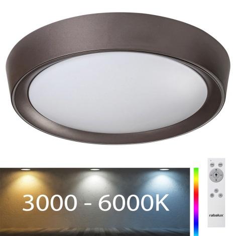 Rabalux - LED RGB Dimmbare Deckenleuchte LED/24W/230V + FB 3000-6000K