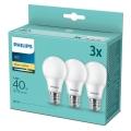 SED 3x LED-Glühbirne Philips E27/5,5W/230V 2700K