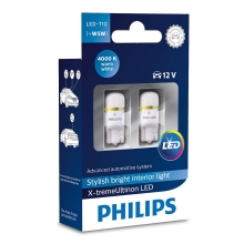 SET 2x LED Autoglühbirne Philips X-TREMEULTION 127994000KX2 T10 W2,1x9,5d/0,8W/12V