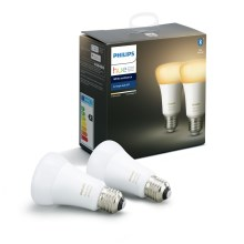 SET 2x LED dimmbare Glühbirne Philips HUE WHITE AMBIANCE E27/8,5W/230V 2200-6500K