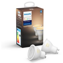 SET 2x LED dimmbare Glühbirne Philips HUE WHITE AMBIANCE GU10/5,5W/230V 2200-6500K