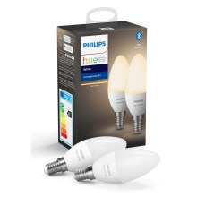 SET 2x LED Dimmbare Glühbirne Philips HUE WHITE E14/5,5W/230V
