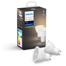 SET 2x LED dimmbare Glühbirne Philips HUE WHITE GU10/5,2W/230V 2700K