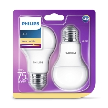 SET 2x LED Glühbirne Philips E27/11W/230V
