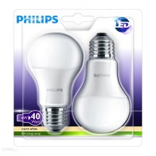 SET 2x LED Glühbirne Philips E27/6W/230V