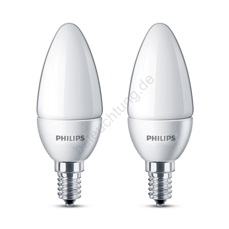 set 2x led lampe philips e14 3w 230v beleuchtung. Black Bedroom Furniture Sets. Home Design Ideas