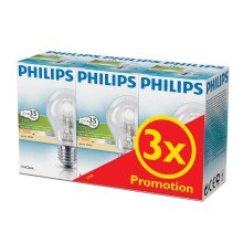 SET 3x dimmbare Halogenglühbirne E27/28W/230V - Philips