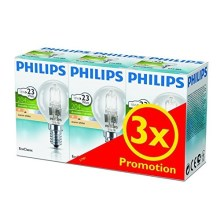 SET 3x dimmbare Halogenglühbirne Philips E14/18W/230V