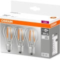 SET 3x LED Glühbirne BASE VINTAGE E27/6W/230V 4000K – Osram