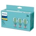 SET 3x LED Glühbirne Philips E27/8,5W/230V 2700K