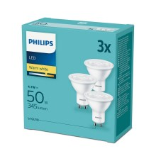 SET 3x LED Glühbirne Philips GU10/4,7W/230V 2700K