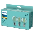 SET 3x LED Glühbirne VINTAGE Philips A60 E27/7W/230V 2700K
