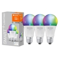 SET 3x LED-RGB-Dimmbirne SMART+ E27/14W/230V 2700K-6500K Wi-Fi - Ledvance