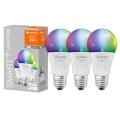 SET 3x LED RGB LED-Dimmbirne SMART+ E27/9,5W/230V 2700K-6500K - Ledvance