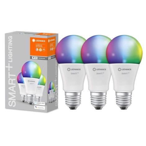 SET 3x LED RGB LED-Dimmbirne SMART+ E27/9W/230V 2700K-6500K Wi-Fi - Ledvance