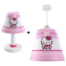 Set Kinder Kronleuchter + Tischlampe HELLO KITTY E27/60W