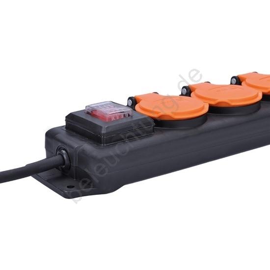 soligth pp332 verl ngerungskabel mit schalter 4z 3m ip44. Black Bedroom Furniture Sets. Home Design Ideas