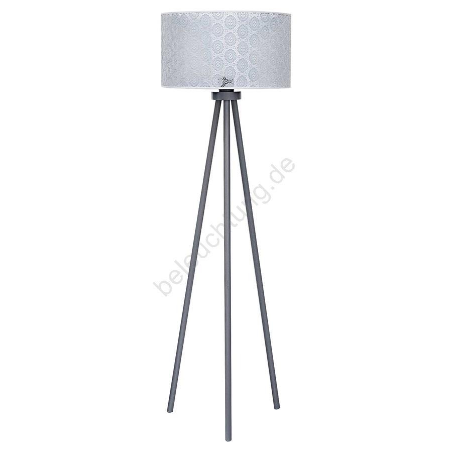 Stehlampe Echo1 1xe27 40w 230v Grau Spitze Beleuchtung De