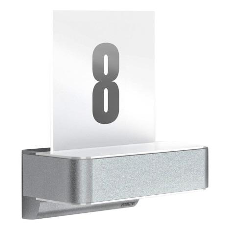 steinel 035754 led hausnummer mit sensor l820led ihf 1xled 12 5w 230v. Black Bedroom Furniture Sets. Home Design Ideas