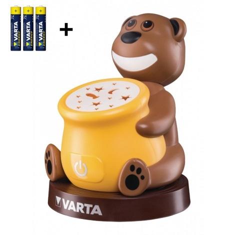 Varta 17501 - LED Kinder Projektor-Lampe PAUL 2xLED/3xAA