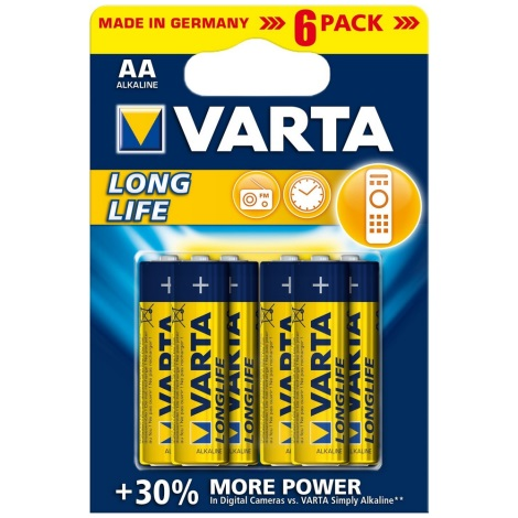 Varta 4106 - 6 St Alkali-Batterien LONGLIFE EXTRA AA 1,5V