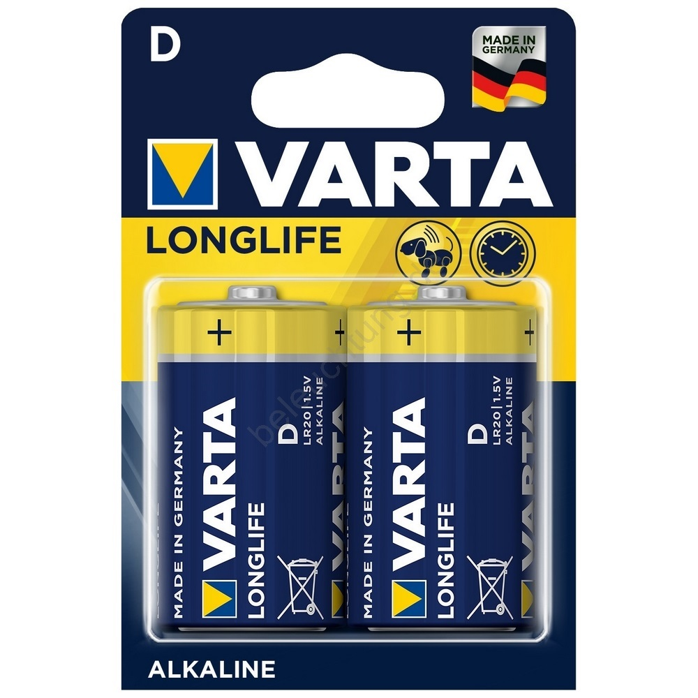 varta 4120 2 st alkali batterien longlife extra d 1 5v. Black Bedroom Furniture Sets. Home Design Ideas